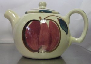 Purinton Pottery Fruit Apple/Pear Individual Teapot