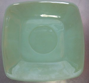 Anchor Hocking Charm Jade Ite Jadite Square Green Saucer