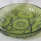 Anchor Hocking Green Prescut Star/Fan Fruit Dessert Bowl