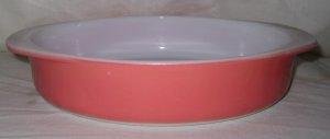 """Pyrex Coral Pink Flamingo #221 8"""" Cake Baking Dish"""