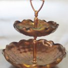 Vintage Gregorian Copper Two Tiered Tidbit Candy Tray