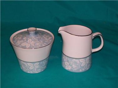Style House Damask Coupe Sugar & Creamer