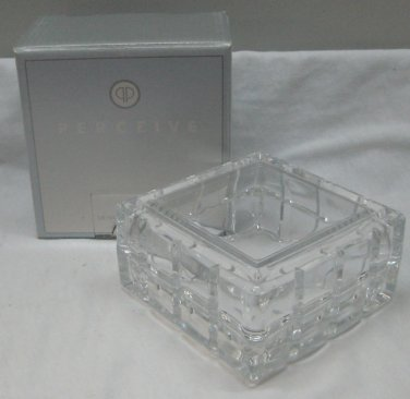 Avon Perceive Lead Crystal Keepsake Box