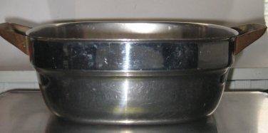 2 Qt Vintage Bridgeport Copperware Stainless Square Saucepan Casserole 2 Qt