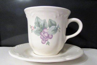 Pfaltzgraff Grapevine Cup & Saucer Set