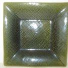 """TARGET HOME ASIAN LINE GREEN STONEWARE DINNER PLATE 10""""  LOVELY GREEN WEAVE"""