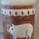 """WHIMSICAL PIG Canister Ceramic  Taste Setter Towle Sigma About 10"""" Tall"""