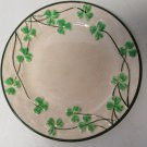 """SHAMROCK Clover CHINA Salad PLATE HAND PAINTED Made In Japan 7.5"""" Vintage"""