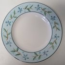 """Cambridge Potteries Dinner Plate Blue Flowers with Green Leaves Pattern 10 3/4"""""""