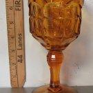 Indiana Tiara Constellation Amber Glass Goblet Vintage