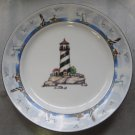 """Coastal Lighthouse by TOTALLY TODAY China Salad Plate 7 1/4"""" DISCONTINUED"""