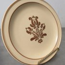 "Vintage Pfaltzgraff Village Brown Tan 7"" Bread Salad Side Plate Stoneware"