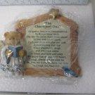 Enesco Cherished Teddies Nativity Prayer Plaque #176362S NOS