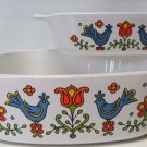 Corning COUNTRY FESTIVAL 1 Quart  and 2 Quart Casseroles Dishes No Lids