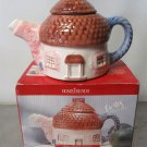 Cottage Tea Pot Home Trends Decorative Use Only Hand Painted Box