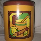 Vintage Bisquick General Mills 1973 Large Metal Tin Canister Ransburg of Indiana