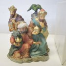 Holiday Treasures NOS Avon 2002 Blessed Visitors Kings Porcelain In Box