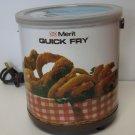 Electric Fryer Mini Vintage Fryer Merit Enterprises For 1 or 2 Servings Works
