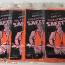 Orange  Fluorescent Safety Vest One Size Fits All 5 Pack