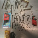 Lot Allen Hex Wrenches, Craftsman Eklind & Others used misc sizes