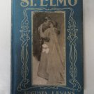 Vtg Book St. Elmo by Augusta J. Evans circa 1900's Blue Cover Board