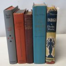Lot of  5 Vintage Old Decorative Antique Mixed Books Library Decor