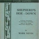 Shepherd's Hoe-Down Sheet Music Two Pianos Four Hands Mark Nevin 1955