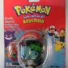 Pokemon #01 Bulbasaur Key Chain Gotta Catch Em All New Old Stock