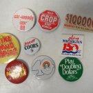 Boycott Coors, Michigan Lotto, Mc Donalds, American Cancer & More Button Pinback
