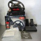 Mad Catz Nintendo 64 Steering Wheel and Foot Pedal, Original Box, Manual