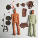 """Marx Fighting Eagle & Geronimo Warrior 12"""" Action Figures Accessories 1967"""