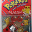 Red PokeBall Pokemon Battle Figures #25 Pikachu & Poke Ball and Battle Discs