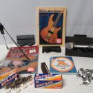 Lot of Music Items Axe Cradle Bass Strings Machine Heads Books Stand & More