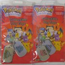 Pokemon Snorlax, Bulbasaur, Jigglypuff, Gengar Dog Tags New Old Stock In Package