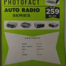 SAMS Photofact Auto Radio Series MANUAL(AR-259) Electronics Only Manual 1978