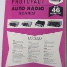 SAMS Photofact Auto Radio Series MANUAL(AR-46) Electronics Only Manual 1967