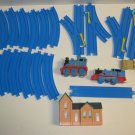Thomas The Train Parts Lot Tomy 2 Trains, Tracks, 1 Building See Pictures