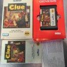 Parker Brothers Clue  (Sega Genesis, 1992) Case Game & Manual
