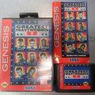 Greatest Heavyweights (Sega Genesis 1993) - Manual, Game, Case