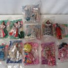 Vintage McDonalds Happy Meal Barbie Doll Figurine Cake Topper Set Lot NIP 11 Pcs