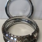 "14"" CHROME Trim Rings Beauty Rims Glamour Ring Rim Edge Bands Nos Set Of 4"