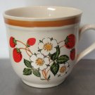 Sheffield Stoneware Strawberries n' Cream Teacup Cup Mug Japan Vintage