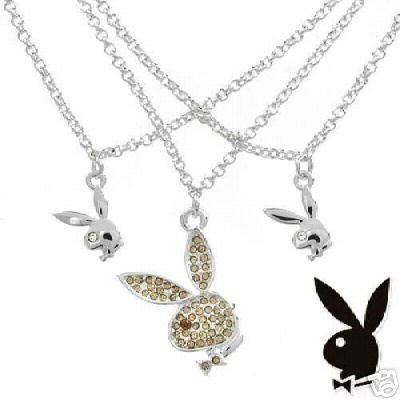 Playboy CZ Necklace NEW MSRP $169