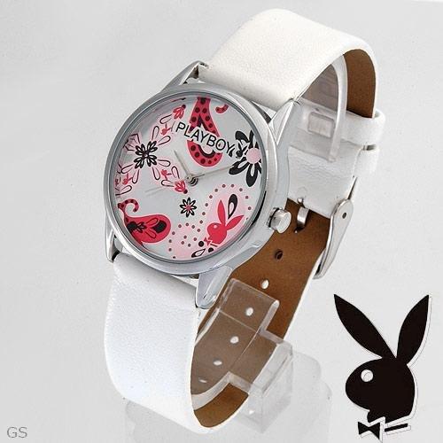 Playboy Watch Leather Band NIB!