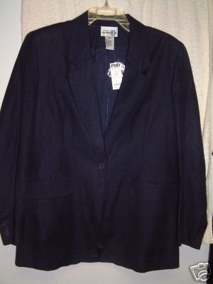 NWT's PHD Paul Harris Design Navy Linenblend Blazer M