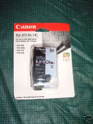 Genuine Canon BJI-201 Black Ink Cartridge BJC600 Series