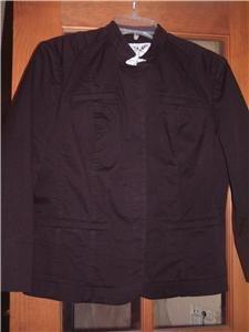 NWT's David Brooks Black Shorty Jacket sz S/P $99.00