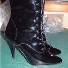 NWOB Pleaser Seduce 1020 Lace Up Stiletto Boots sz 11