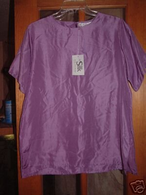 NWT's Silk Collections Short Sleeve top sz 8