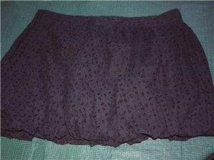 NWT's Luella Black Crunch Skirt sz 9 $29.99
